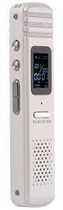 Immagine di Registratore Audio Ambientale Metallico Slim voice recorder spy dittafono