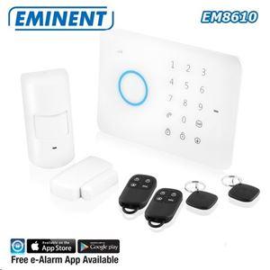 Immagine di Kit Allarme Wireless GSM + Sensori e Telecomandi EMINENT EM8610