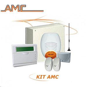 Immagine di Kit completo antifurto filare con centrale Plus gsm AMC 178