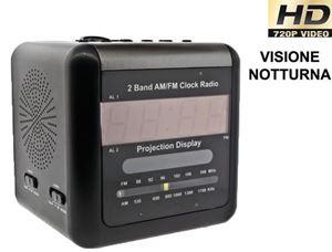 Telecamera Nascosta Da Esterno : Radiosveglia con telecamera nascosta e led invisibili
